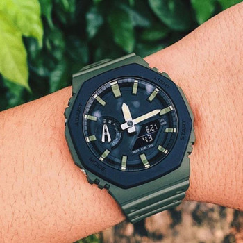 New 2100 LED Dual Display Men's Sports Watch Royal Oak Electronic Digital Watch All functions can be operated High quality