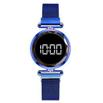 Luxury LED Women Magnetic Bracelet Watches Rose Gold Digital Dress Watch Quartz Wristwatch Ladies Clock relogio feminino