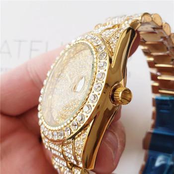 Full Diamond Iced Out Watches Fashion Mens Luxury Classic Watch Shinning Designer Quartz Movement Mens Women Party Wristwatch Gift Clock