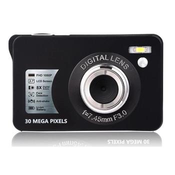 30MP Mini Digital Camera 2.7'' TFT Screen Anti Shake Self-time Photo HD 1080P 8x Zoom Video Camcorder for Kids Gift