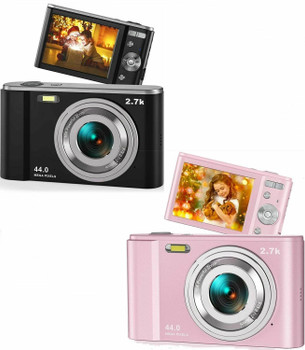 44MP Small Digital Camera 2.7K 2.88inch IPS Screen 16X Zoom Face Detection Vlogging for Photography Beginners Kids