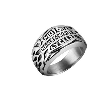 Men Punk Band Ring 316L Stainless Titanium Steel Creative Personality Gold Silver Harley Motorcycle Jewelry Finger Rings SIze 7/8/9/10/11/12/13