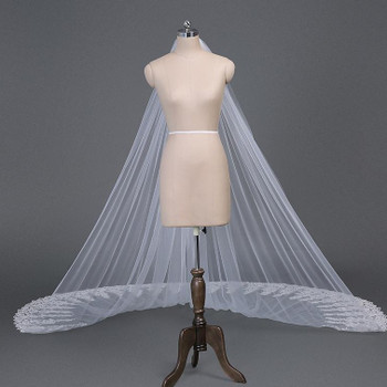 Long wedding veils 3m cathedral length lace veil new cheap real bridal veils Bridal Accessories wedding Veils