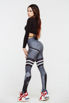 Striped Pattern Legging Women Sports Pants Breathable Fashion Contrast Colors Running Yoga Joggers Trendy Women's Active New Clothes