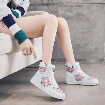 Fashion Spring Autumn Women Casual Shoes Soft High Top Leather Sneakers Female New Trendy Japanese Style Street Walking Footwear