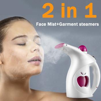 2 in1 Face Steamer Deep Cleanser Mist Steam Sprayer Spa Skin Vaporizer handheld garment Steamer EU US plug