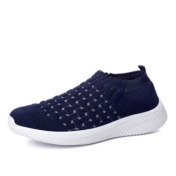 2021 Summer Casual Shoes Women Comfortable Sock Sneakers Female Outdoor Walking Footwear Woman Breathable Flying Woven Trainers