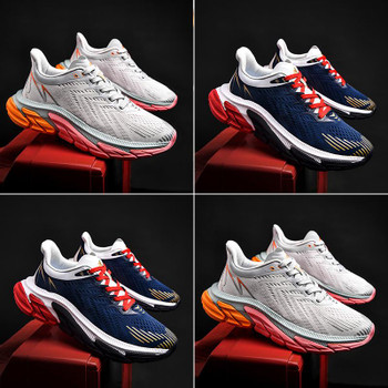 2021 Men Shoes comfortable Sneakers Breathable Mesh Training Sport casual shoes Outdoor Running Shoes Trend Walking