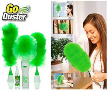 Motorized Go Duster + Stainless Steel Handle Drag All-in-One Household Hand Push Rotating Floor Dust Sweeping Broom Mop