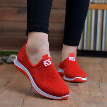 Ladies Vulcanized Shoes Women Sneakers Woman 2021 Breathable Mesh Women's Casual Non Slip Shallow Walking Female Flats