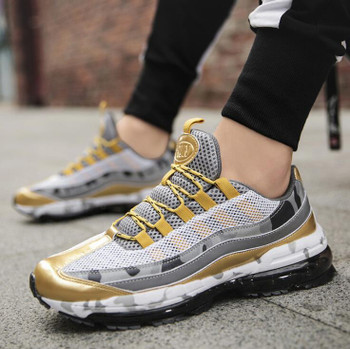 Autumn New Hot Sale Men's Sports Shoes Large Size Fashion Air Cushion Shoes Casual Damping Running Shoes