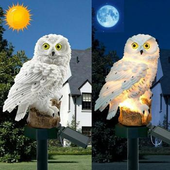 Edison 2021 Solar Owl Light LED Fake Owl Lamp Waterproof IP65 Outdoor Decorative Path Lawn Yard Garden Lights