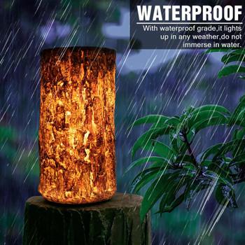 Outdoor Landscape Lamp Outdoor Waterproof Solar LED Landscape Light Stump Light Brown Energe Saving Solar Lamps