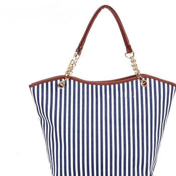 New fashion Women's Shoulder Bags Canvas 3 Colors 2 root Stripe Tassel Zipper Medium soft Totes Hobo Handbag