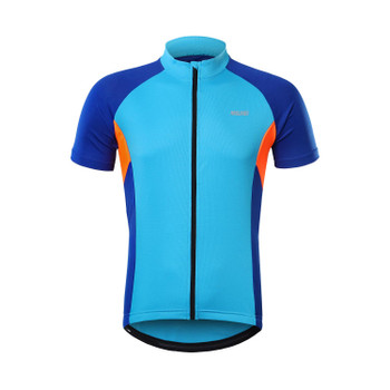 Mens Outdoor Breathable Elastic Compression Slim fit Short Sleeve Cycling Jersey Biking Jacket Bicycle Tops