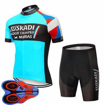 Euskadi Team Cycling Clothing Men Bike Jersey & Shorts 9D Gel Pad Sets Summer Breathable Short Sleeve MTB Bicycle Outfits Sports Uniform Y21033012
