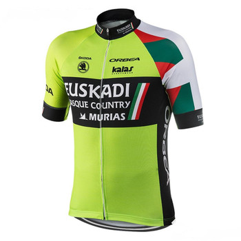 2021 cycling jersey set Euskadi spain team clothing bike wear green team bike pro riding mtb road wear NOWGONOW gel pad bib shorts maillot