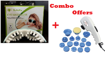 Blueidea Eye Massager + MICRA 21 in 1 PROFESSIONAL MAGNETIC WITH EXTRA POWER BODY MASSAGER