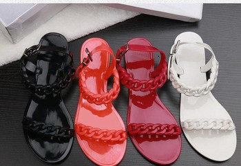 Chain beach shoes candy out sandals Europe and the United States Top Quality