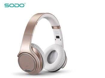 Original SODO MH1 Bluetooth Headphone & Speaker 2 in 1 Twist-out wireless Headset with NFC microphone for phones