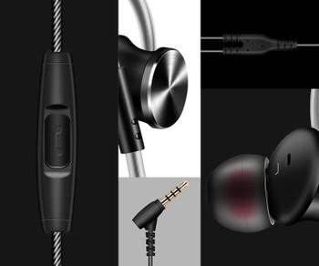 2021 In-ear waterproof Headphones Headset 3.5mm jack niosy cancelling build-in microphone sports earphone for iphone andriod phone