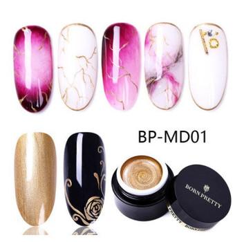 BORN PRETTY 5ml Sparkling Metallic Color Nail Gel Polish Varnish Painting Spider Gold Silver Mirror Glitter UV Soak Off Gel