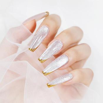 BORN PRETTY Cat Magnetic Gel Nail Polish Silver Snowlight Magnet Gel Soak Off UV Gel Semi-transparent Varnish Nail Art Design