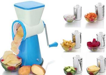 4 IN 1 Vegetable Fruit Cutter Slicer + Ice Crusher Gola Maker Ice Show Maker Ice Shaver Slush Maker