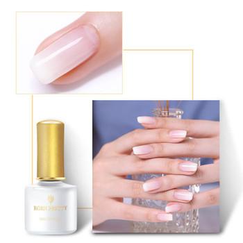 BORN PRETTY Opal Jelly Gel Nail Polish White Pink 6ML Soak Off UV Nail Gel Polish Semi-transparent Nail Art varnish
