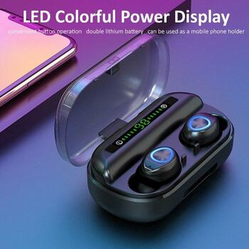 V10B Wireless Earphones TWS HiFi Stereo Noise Canceling Headphones Button Sport Running HD Call Earbuds 3 LED Power Display Waterproof Headset