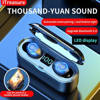 Designer F9-8 TWS Wireless Earphones Bluetooth Fashion 5.0 F9 Bluetooth Headphone High Quality Bass Surround Headphones with Charging Box