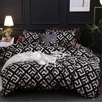 Supplies Textiles Home & Garden modern Geometric California King Bedding Sets Sanding Er Pillowcase 51*90 Duvet Ers 229*260 3Pcs Bed Set Drop