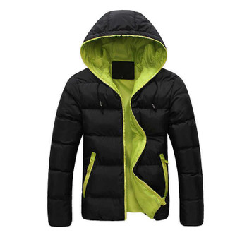 Thick Coat S0804 Men's Winter Warm Jacket Hooded Slim Casual Coat Cotton-padded Jacket Parka Overcoat Hoodie 2021 New Fashion