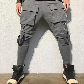 Big Pockets Mens Pants Fashion Hip Hop Style Solid Color Mens Designer Pencil Pants Casual Mens Clothing