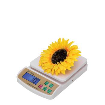 Digital Kitchen Compact Design Weighing Machine Scale Under 10 kg SF-400A (White)