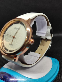 Segam White Gold Women's Watches Fashion Leather Watch