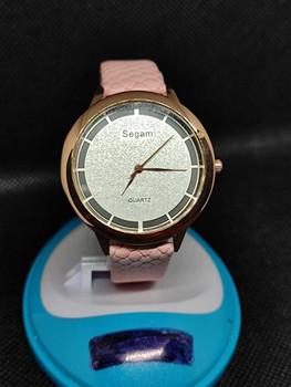 Segam Light Pink Women's Watches Fashion Leather Watch Brand Segam Women Watches For Women Personality Romantic Watch