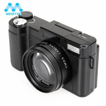 """MEMTEQ Digital Camera 3"""" TFT LCD Full HD 24MP Digital Camera Video 1080P Camcorder CMOS Video Lens + Filter DSLR Camera"""