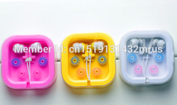 SZAICHGSI Cheapest colorful 3.5mm In ear  candy Earphone With Crystal Box As Gift For MP3 MP4 Mobile phone wholesale 500pcs/lot
