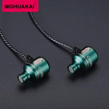 MGHUAKAI Original Genuine Canyon 3.5mm In Ear Personality Heavy Bass Metal Fever HIFI In-ear Style Phone Earphone Wholesale