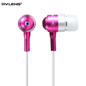 Wholesale 2017 Colorful OVLENG IP720 3.5mm Stereo Noise Canceling In-ear Earphone with Dynamic sound for Mobile Phone ipod