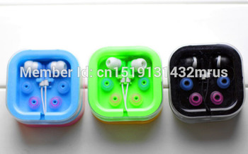 SZAICHGSI colorful Cheapest New In-ear 3.5mm Earphone For MP 3 4 Mobile phone for gift with retail box package Wholesale 100pcs