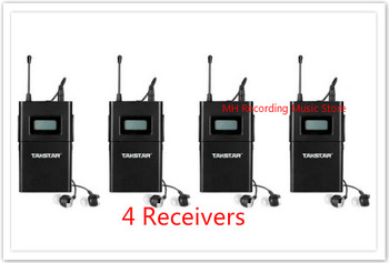4pcs/lot TAKSTAR WPM-200 single receivers (including earphone) Professional Wireless Monitor System receiver Original wholesale
