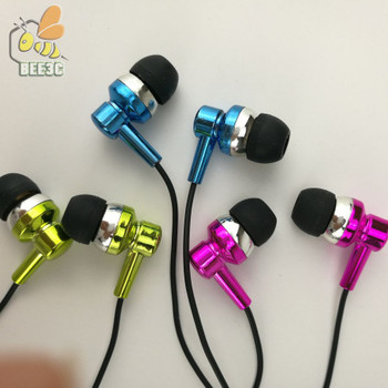 Thick wire headset earphones direct deal from factory wholesale earbuds cheap gold blue rosered gilding for iphone CP-12 300pcs