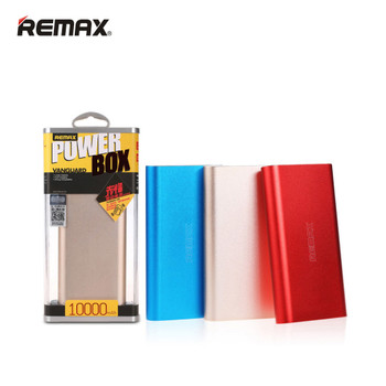 REMAX Power Bank Real 10000mAh USB External Mobile Backup Powerbank Battery for iPhone iPod iPad mobile Phone Universal Charger