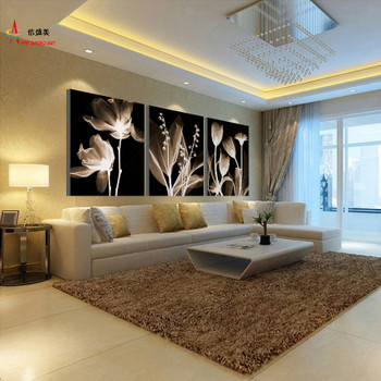 3 Panel Canvas Painting Decoracion Modular Picture Quadro Mural Wall Pictures For Living Room HD Print Flowers Pintura K303X