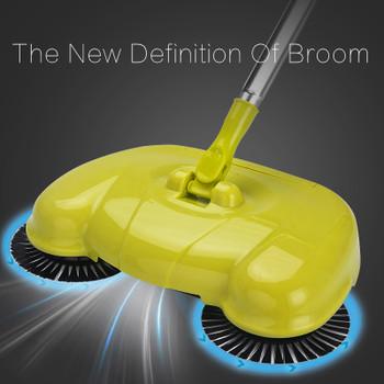 DARIS Stainless Steel Sweeper Handle Push Type Cleaning Magic Sweeping Machine Household Hand Push Floor Broom Dustpan Robot