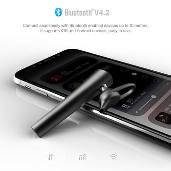 ROCK Mini Bluetooth Earphone with Mic Headset Bluetooth V4.2 Wireless Handsfree Music Earphone for iphone Samsung