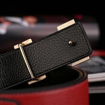 H Jaguar Designers Luxury Cowhide Brand Genuine Leather Women Belts for Mens High Quality Cowskin Ceinture Homme Blue