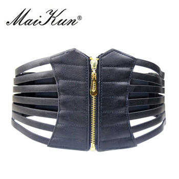 New Ultra Wide Belts for Women Adjustable Body Shape Black Faux leather Retro Design Elastic Female Strap Slim Corset Belt